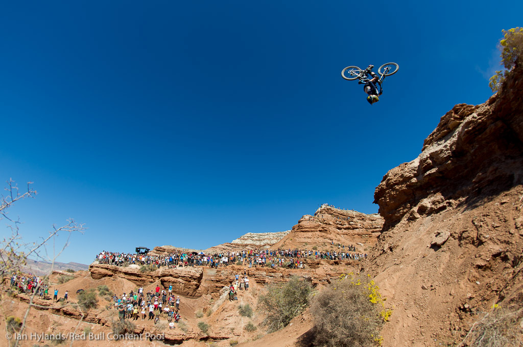 Kurt Sorge rides to the win at Red Bull Rampage in Virgin Utah on 7 October 2012