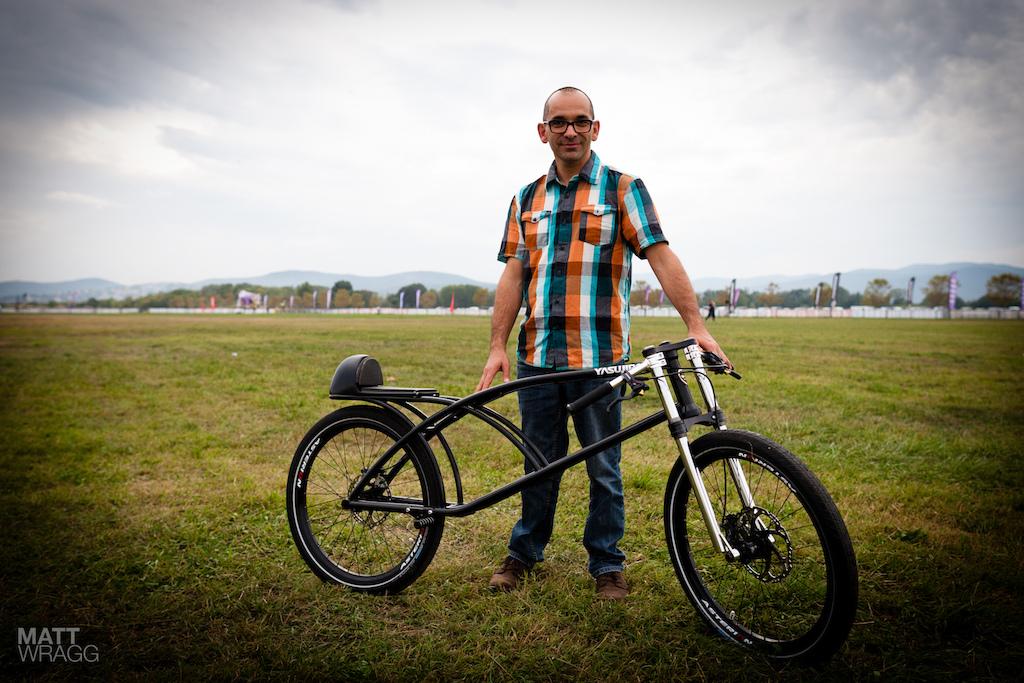 Yasujrio Speedbike with creator JC Charrier.