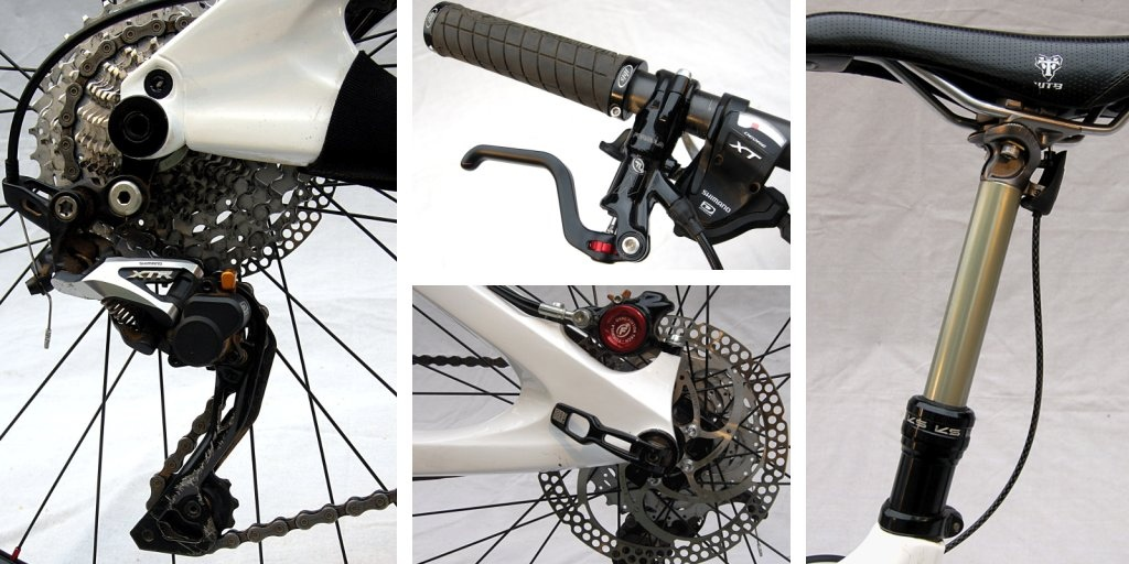 Ibis Mojo HD Shimano XTR Shadow Plus derailleur Formula RXO brake KS Lev remote dropper post.