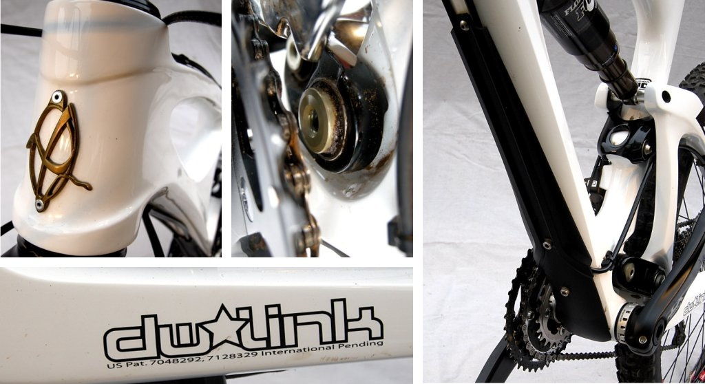 Ibis Mojo HD head tube badge chain guide boss polycarbonate downtube protector dw-link graphic.