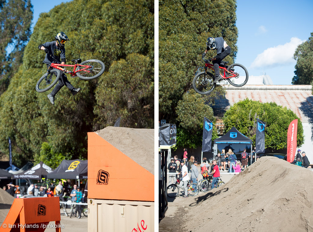 Cam McCaul whipping on and threeing off...