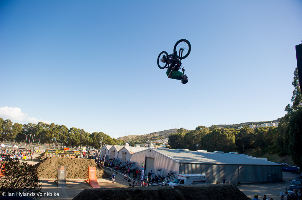 Reece backflipping the stepdown for the first time in practice.