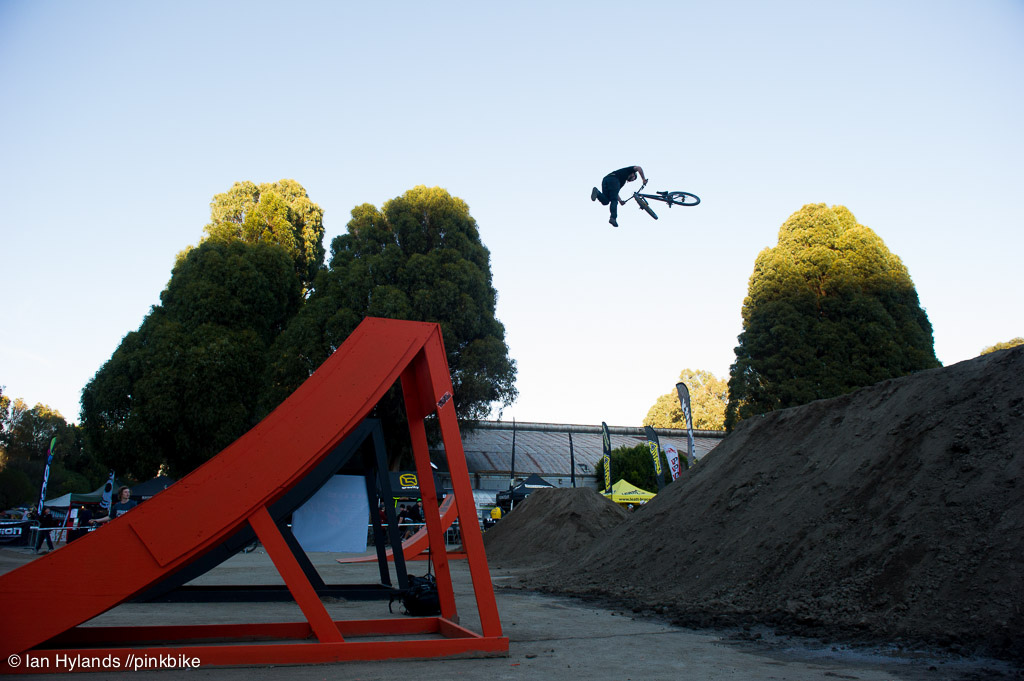 Casey Groves second place with a tuck to tailwhip...