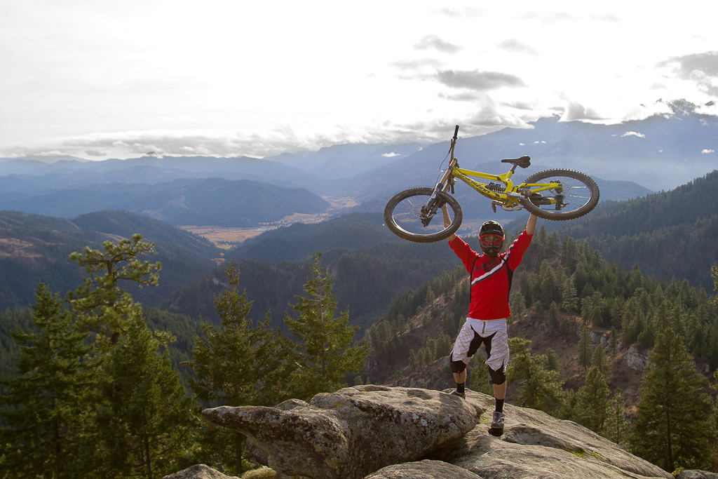 Trevor on top of the world with his TR450!