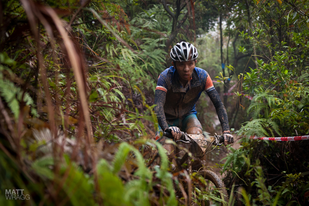 Going was tough with the thick sticky mud hanging off your bike.