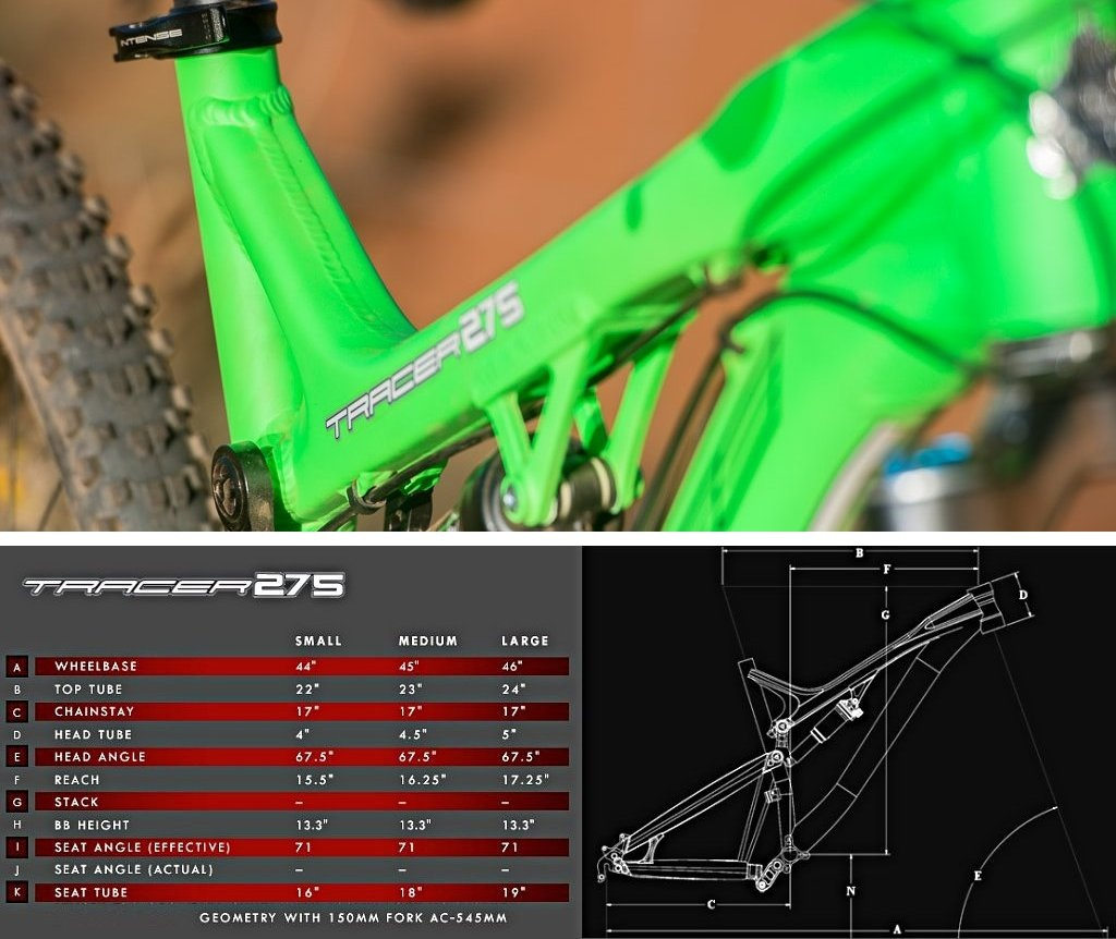 Tracer 275 geometry