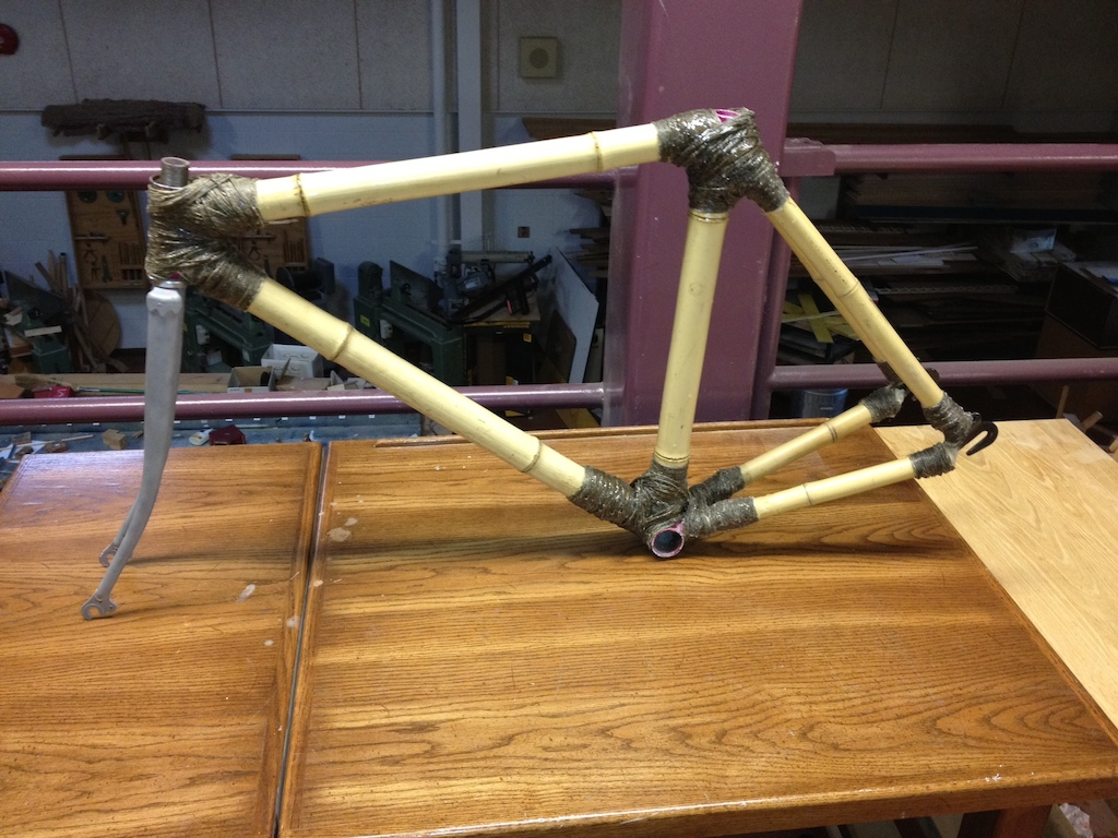 Finished Bamboo fixie frame