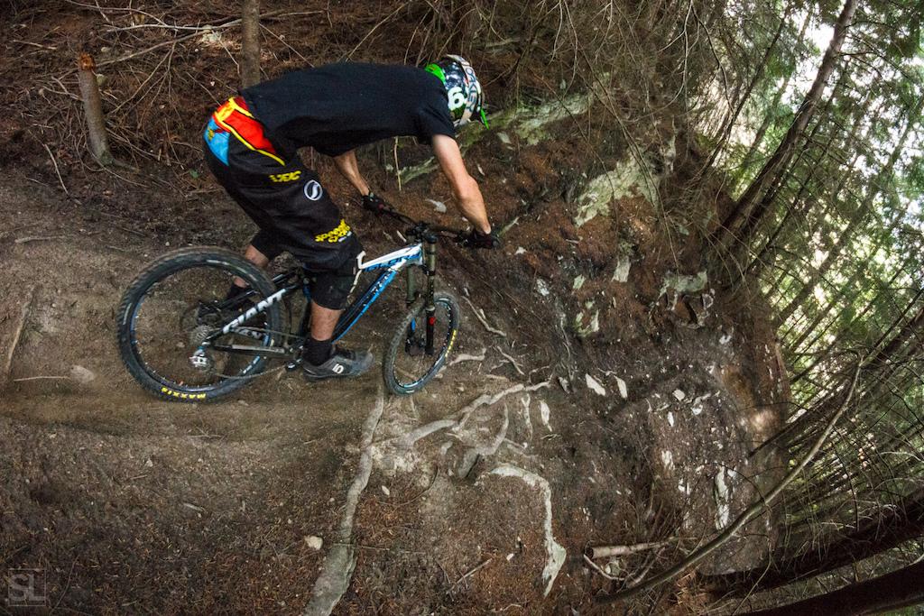 down the chute