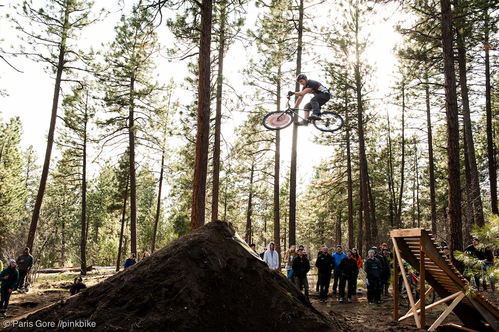 Winner of most sketchy bike jumped on the doubles. Perrizo gets weird on the Frankenstien bike.