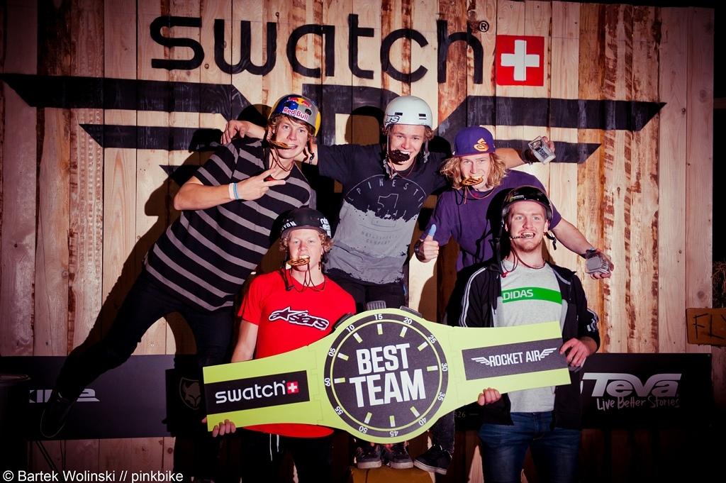 Team Skandinavia Martin Soderstrom Max Fredrikson Adrian Tell Anton Thelander and Linus Sjoholm won todays team battle