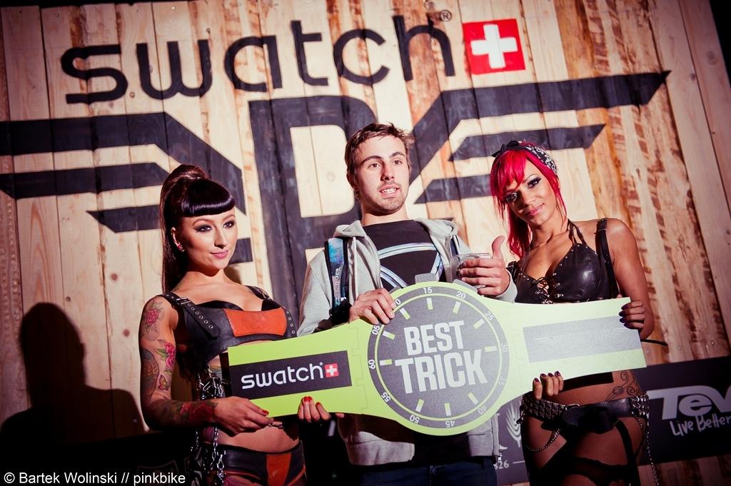Louis Reboul the winner of best trick contest
