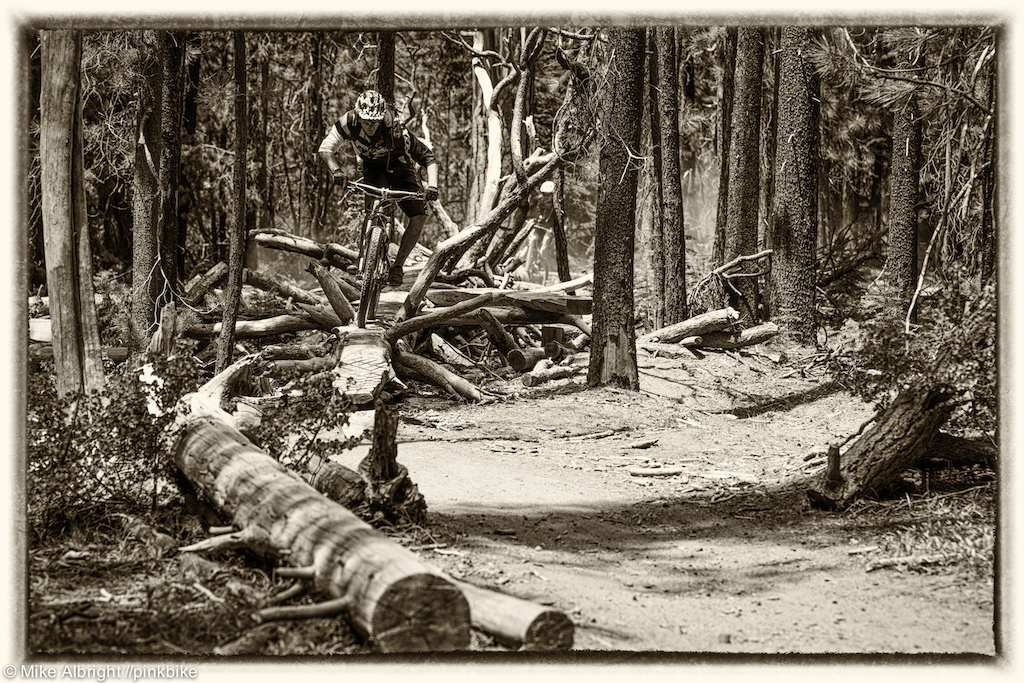 Bend-local Adam Craig gets some trail time in before tomorrow s Enduro race near Bend Oregon