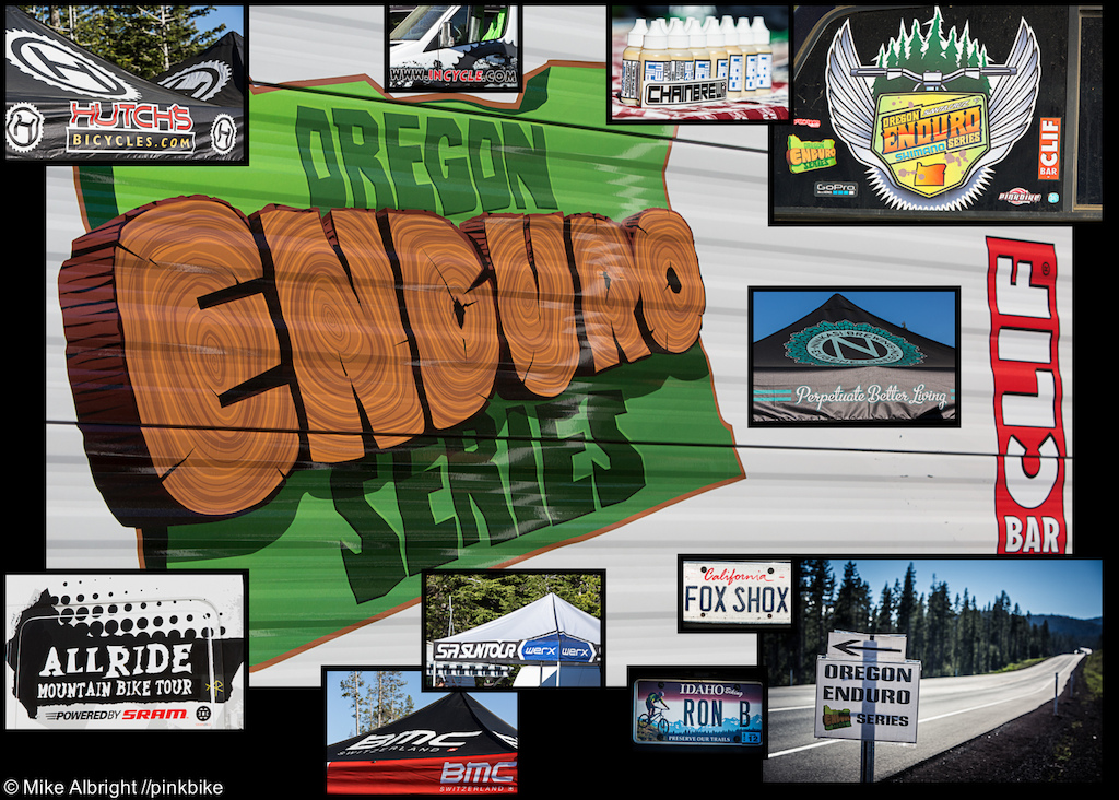A Collage of some of the signs arounds the expo.