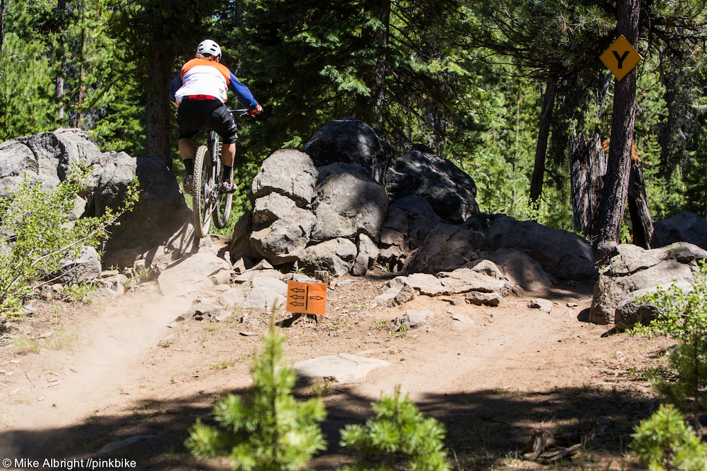 There are some decision-maker sections along the trail where risk reward comes into play.