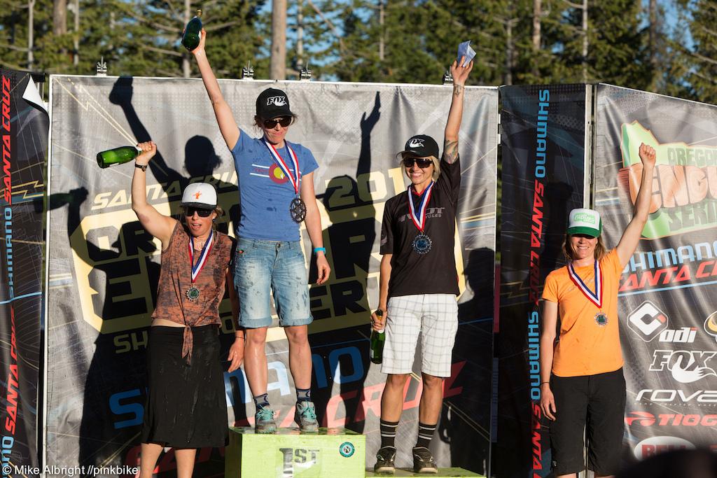Pro Women podium 1st Rosara Joseph 2nd Carolynn Romaine 3rd Shana Sweitzer 4th Katie Jay Melena 5th Rachel Throop