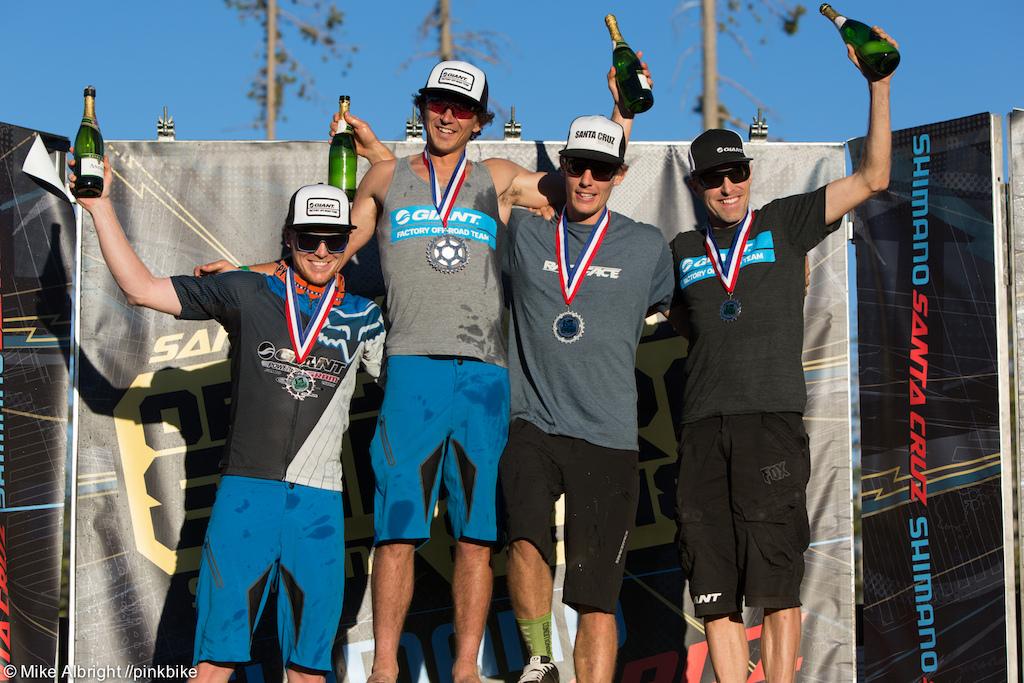 Pro Men podium 1st Adam Craig 2nd Chris Johnson 3rd Josh Carlson 4th Carl Decker