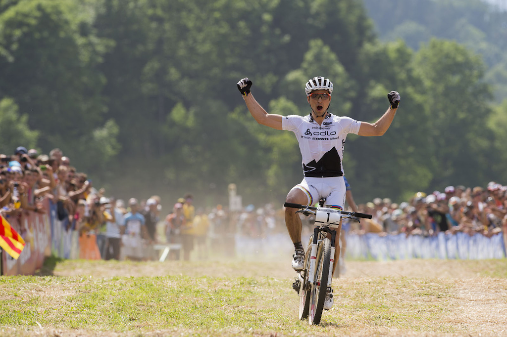 Schurter put just enough into the final sprint to be able to savor the win.