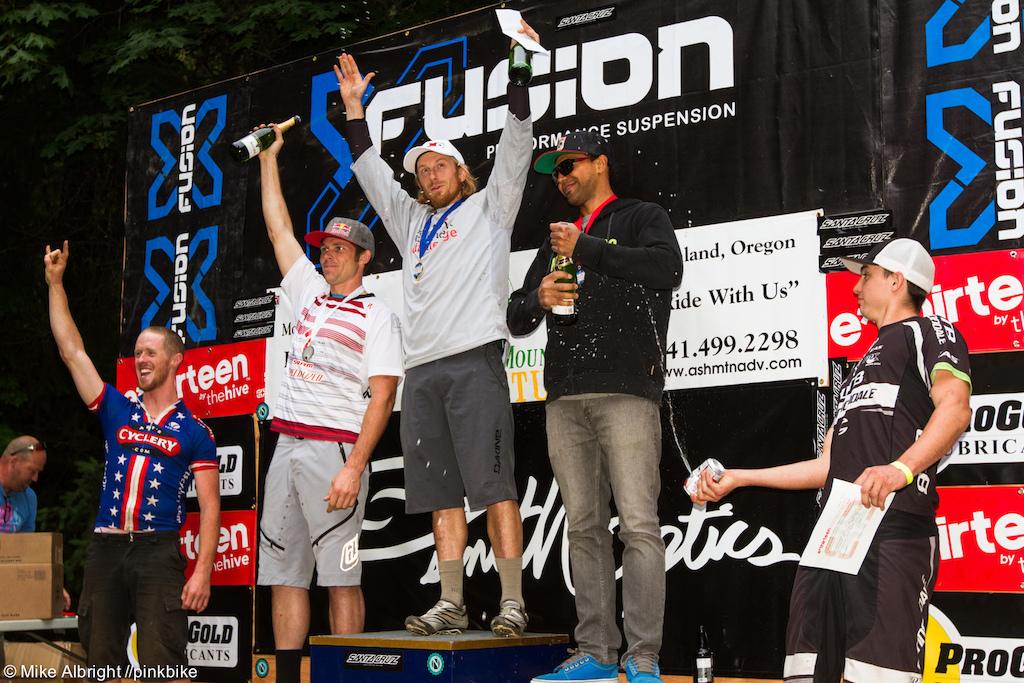 Men s pro podium l-r Tom Doran Curtis Keene Nathan Riddle Matthew Slaven Marco Osborne
