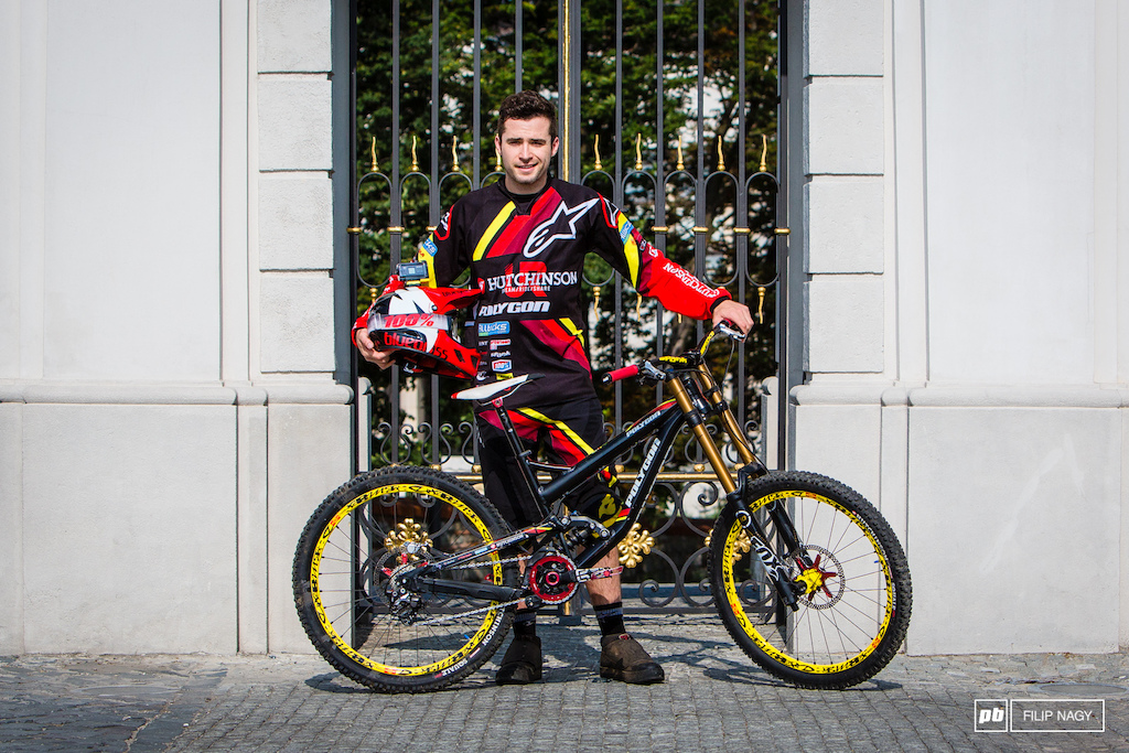 Fabien Cousini and his Polygon DH Prototype