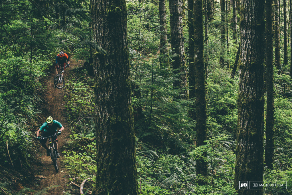 Campbell River has some of the smoothest sexiest singletrack on the Island. Hestler and Vanderham enjoying the good life.