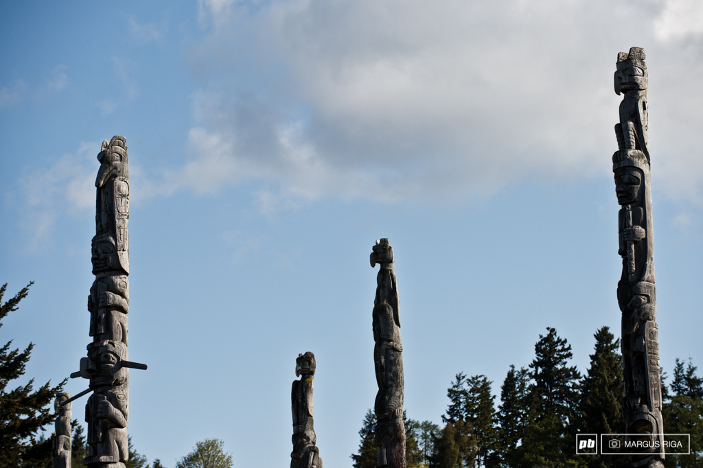 Totem pole alley Alert Bay.