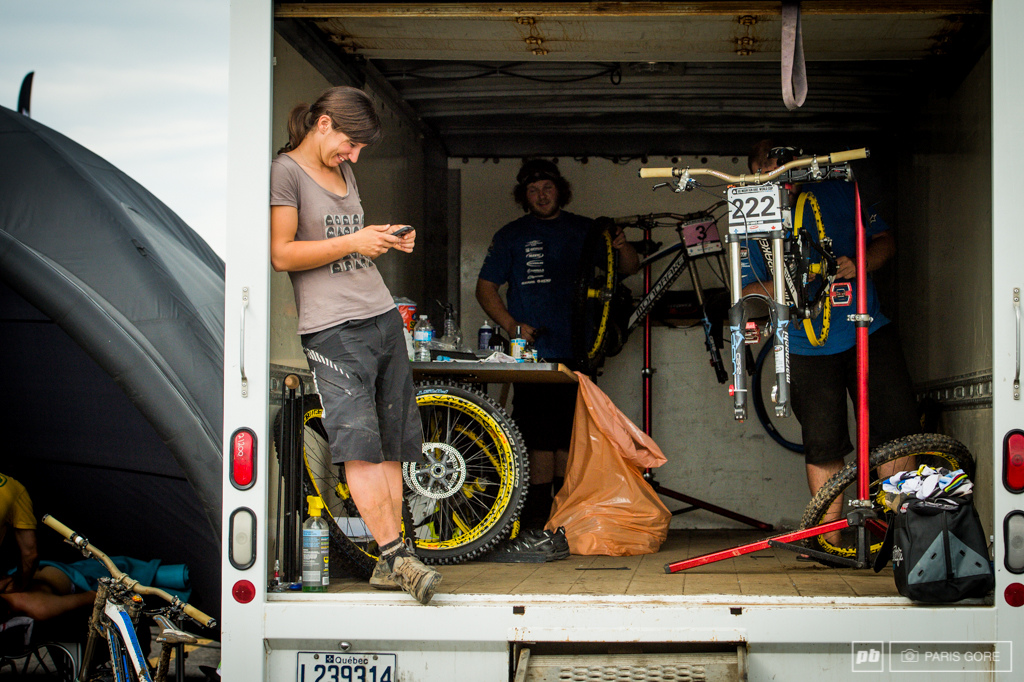 MS Mondraker went from pit of the week in Andorra to U-Haul pits along with many others here. Many of the team trucks had to be at Crankworx Whistler this weekend.