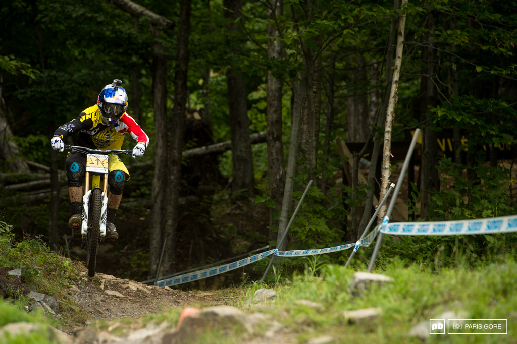 Gee Atherton gaining back some momentum after yesterdays crash in qualys.