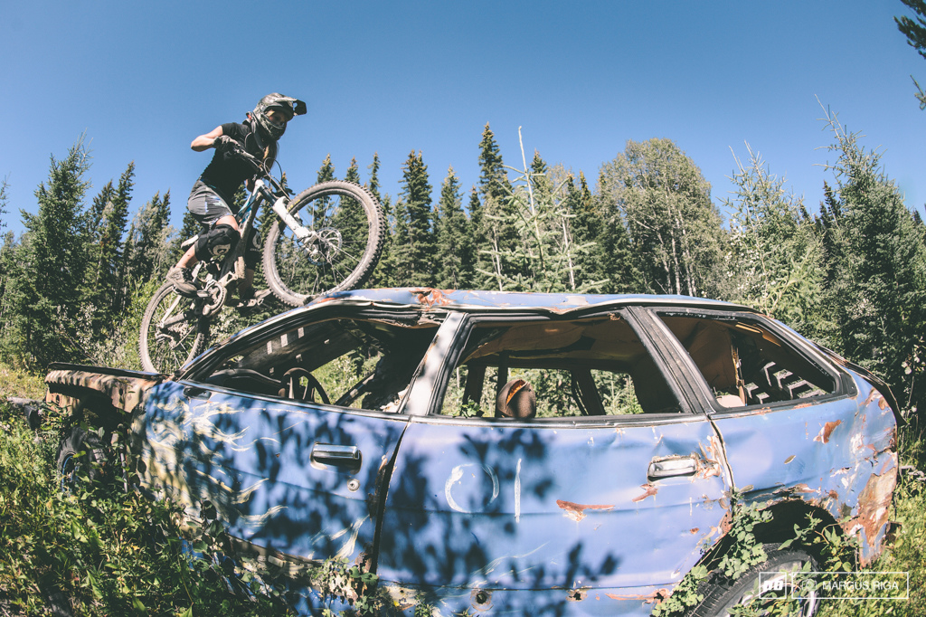 Burns Lake BC A land where 15 year girls monster truck over smashed up cars on bicycles.