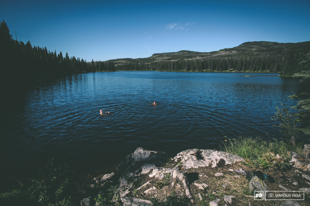 Riley and Meg Kager Lake post ride.