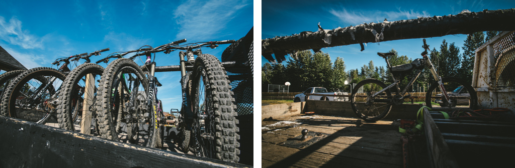 Shuttle-ready in Smithers. The local hardcores have 2 dedicated flat-bed 4x4s used 100 for accessing the trails.
