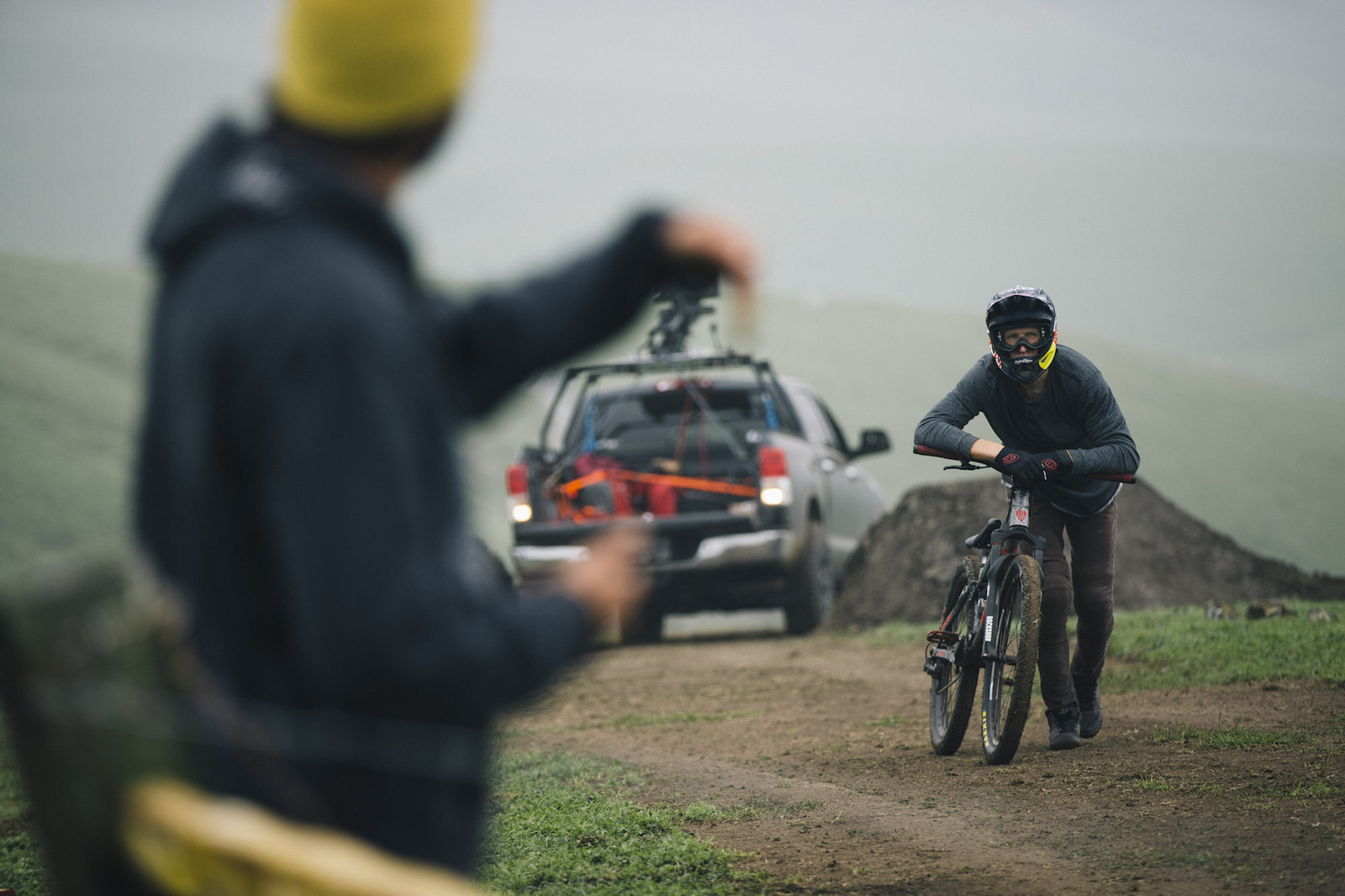 Brandon Semenuk in his 1 shot segment for unReal movie in Cambria California USA 2015 Anthill Films