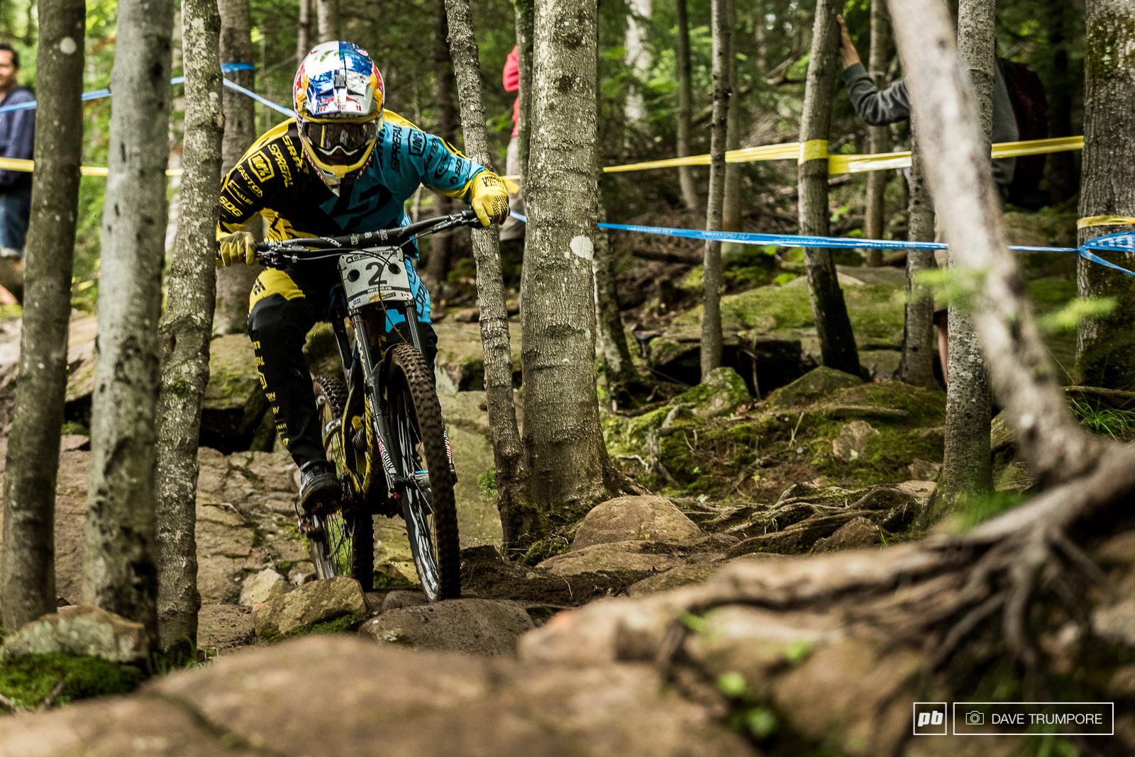 Charging through the woods in Mont Sainte Anne