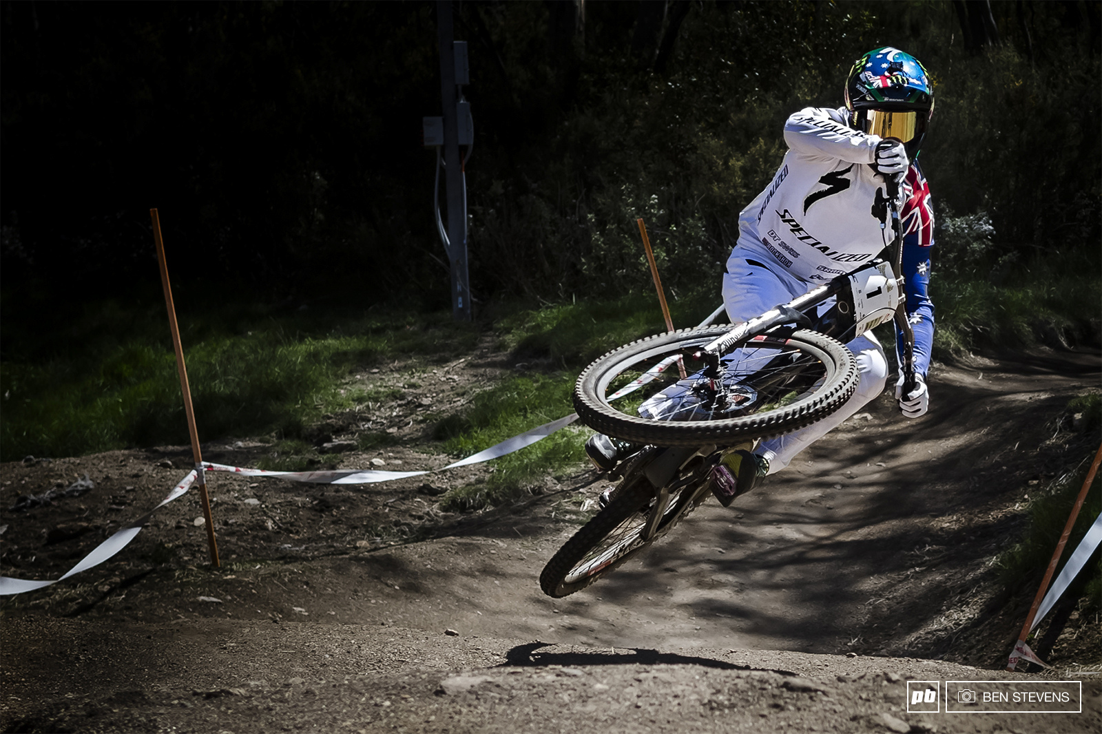 Troy on his way to claiming victory in the Elite Mens DH
