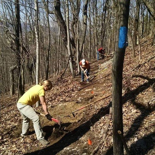 Trail Work at Carvins Cove