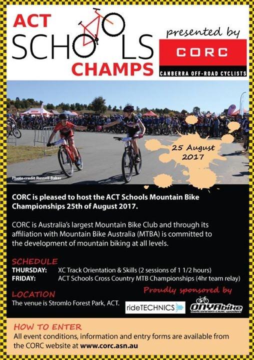 2017 ACT School Mountain Bike Championships