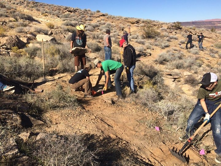 Desert Canyons Trail Build Day