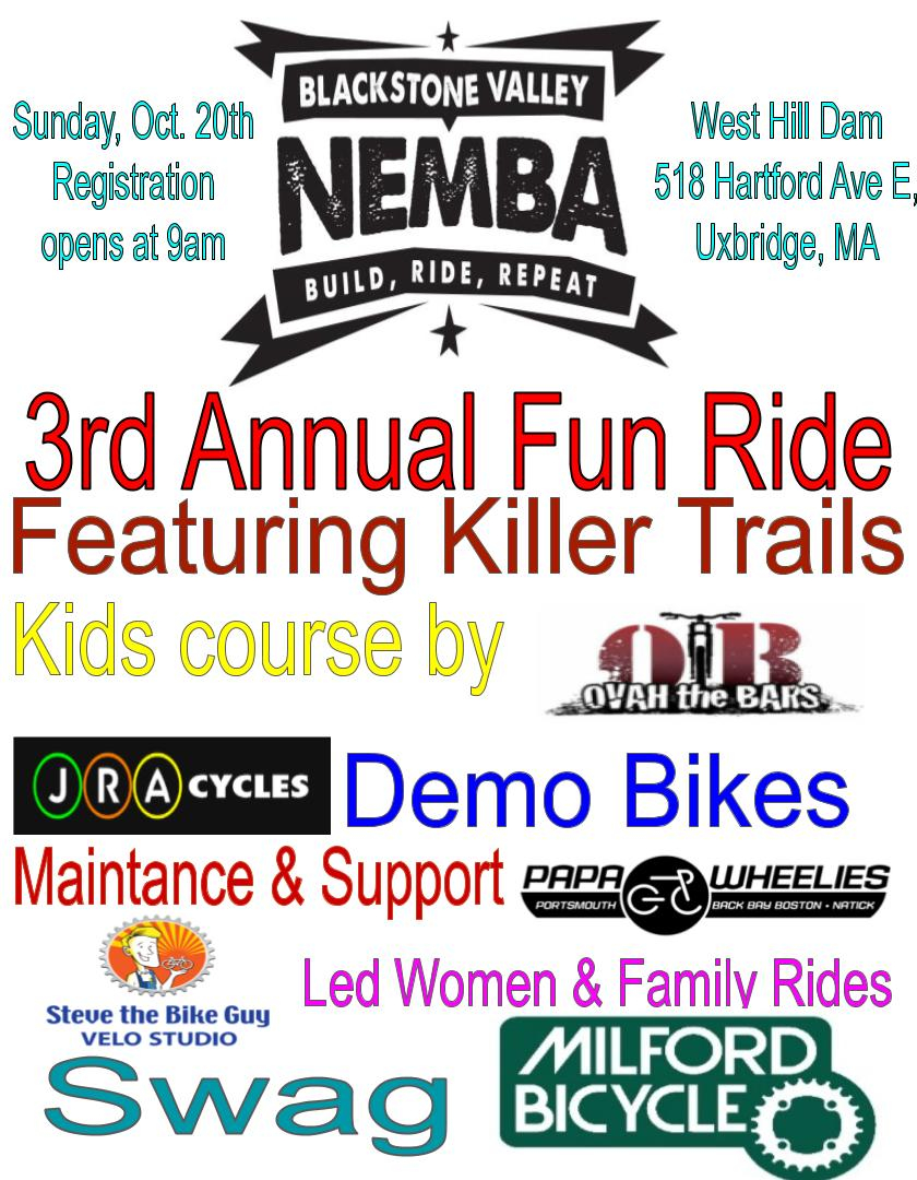 3rd Annual Blackstone Valley Fun Ride