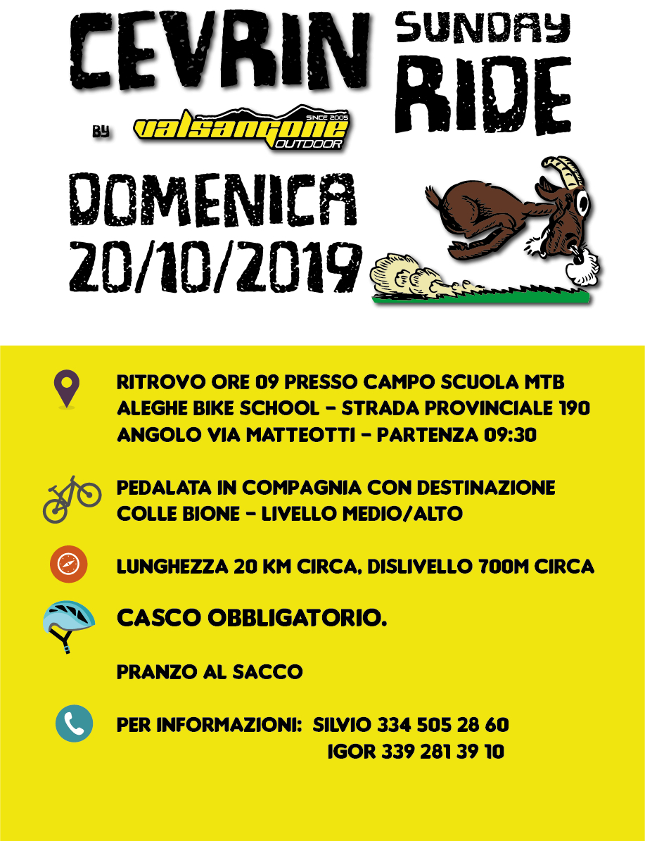 Cevrin Sunday Ride 2019 - Colle Bione