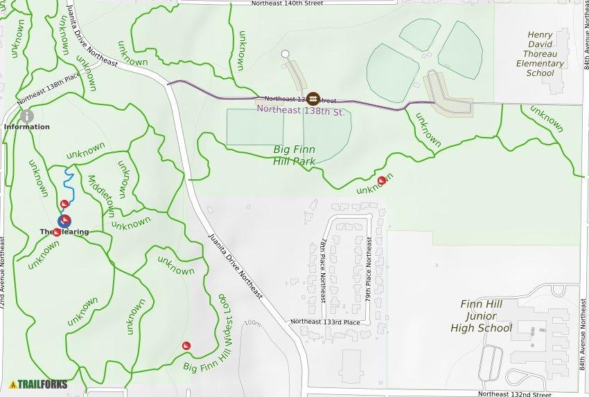 Big Finn Hill Park Mountain Biking Trails   Trailforks Denny Creek Trail Map on