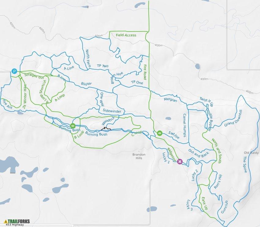 Brandon Hills Mountain Bike Trails Trailforks