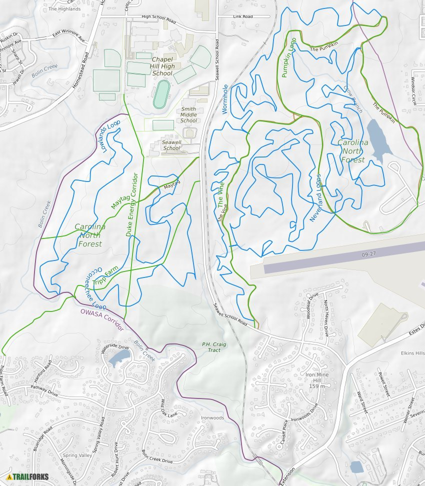 Chapel Hill North Carolina Mountain Biking Trails Trailforks