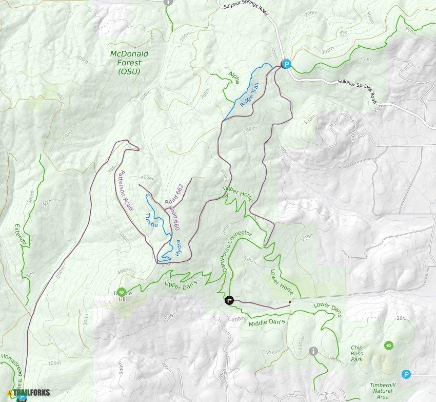 Corvalis Oregon Map.Corvallis Oregon Mountain Biking Trails Trailforks