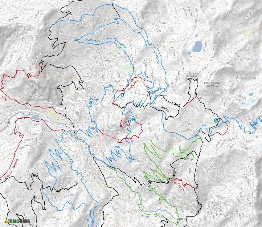 Ct Verbier Mountain Bike Trails Trailforks