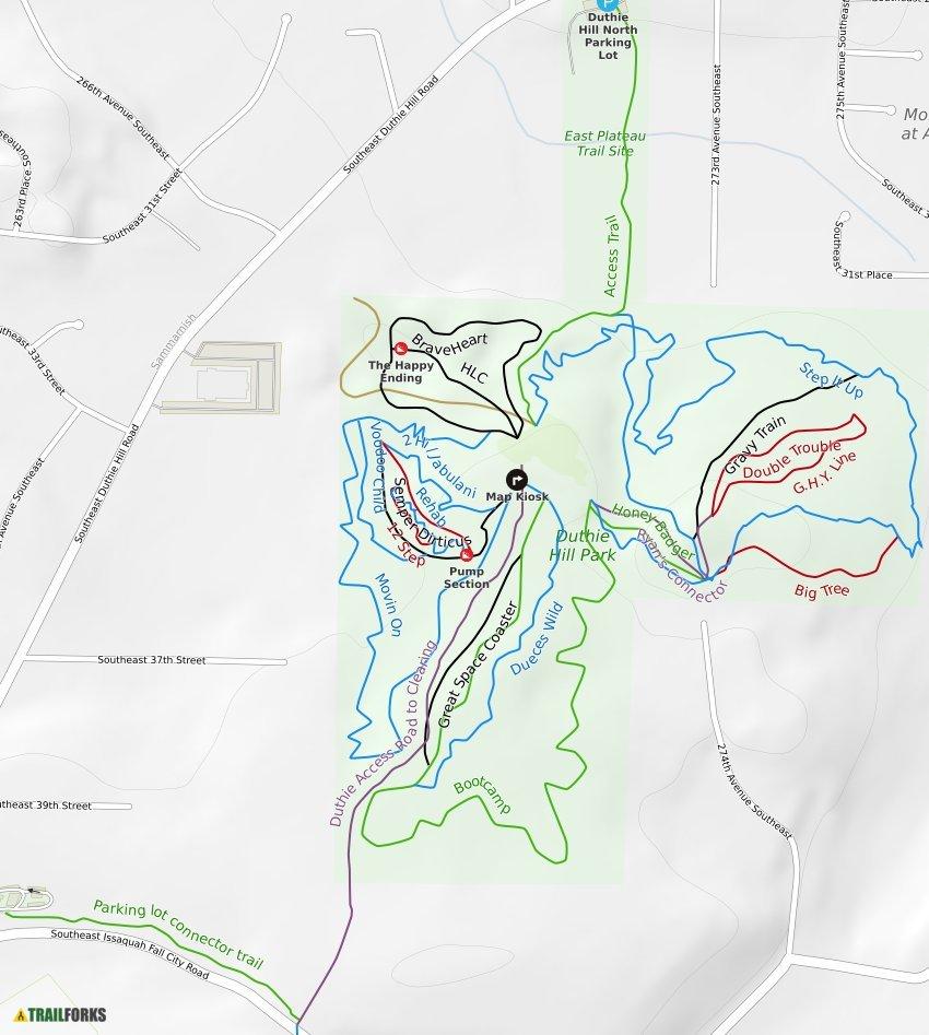 Duthie Hill Map Duthie Hill Mountain Bike Park Mountain Biking Trails | Trailforks Duthie Hill Map