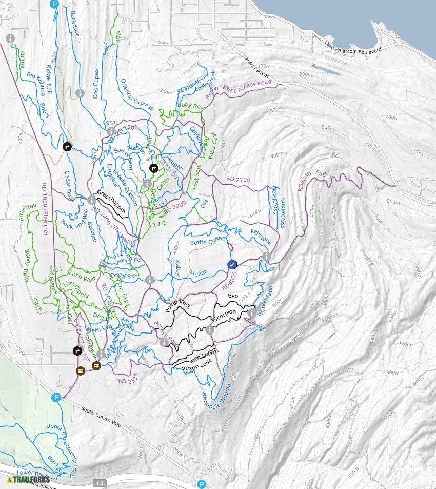 Galbraith Mountain Map Galbraith Mountain Biking Trails | Trailforks Galbraith Mountain Map