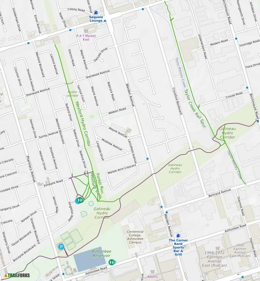 Gatineau Hydro Corridor Toronto Mountain Bike Trails Trailforks