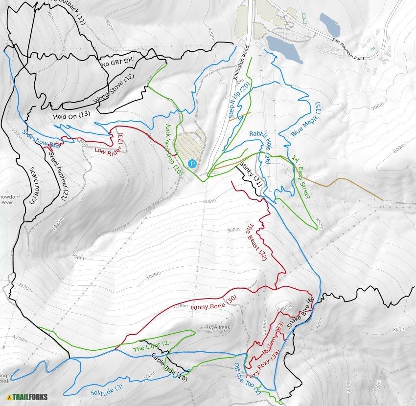Killington, Vermont Mountain Biking Trails | Trailforks on burlington vt map, glastenbury vt map, jacksonville vt map, danby vt map, west dover vt map, sutton vt map, north ferrisburgh vt map, saxtons river vt map, green mountains vt map, rutland vermont map, averill vt map, hiking long trail vt map, berkshire vt map, vermont airports map, pownal vt map, castleton vt map, post mills vt map, manchester vt map, mount mansfield vt map, holland vt map,