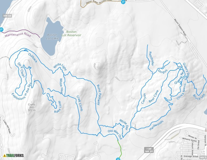Landmark/Boston Lot Mountain Biking Trails   Trailforks on