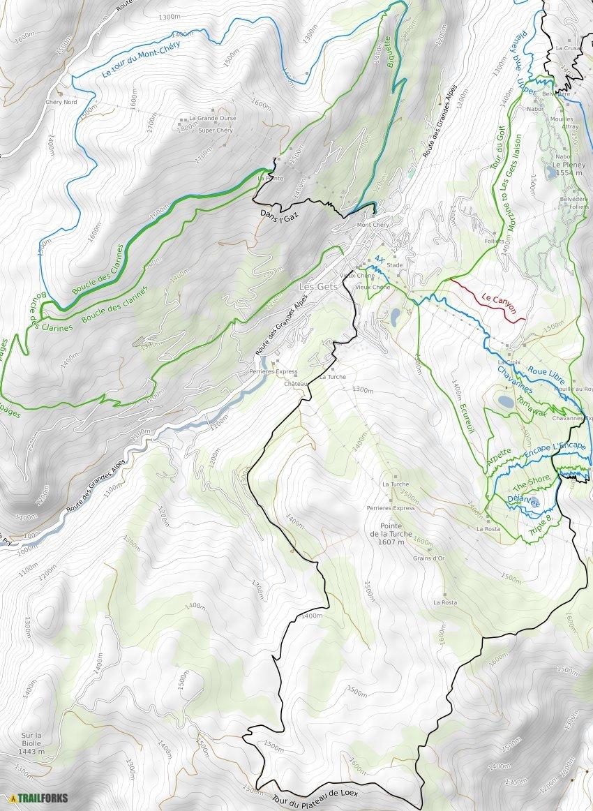 Les Gets France Mountain Bike Trails Trailforks