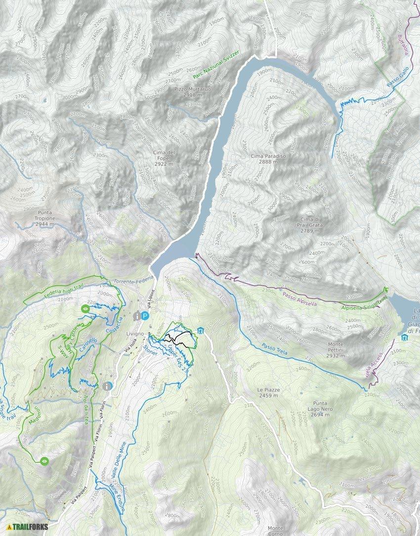 Livigno Italy Map.Livigno Italy Mountain Biking Trails Trailforks